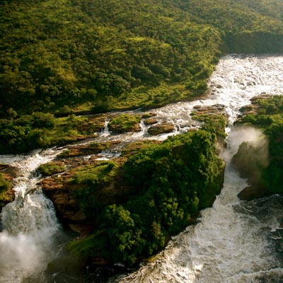 Murchison Falls from the air Experience Uganda